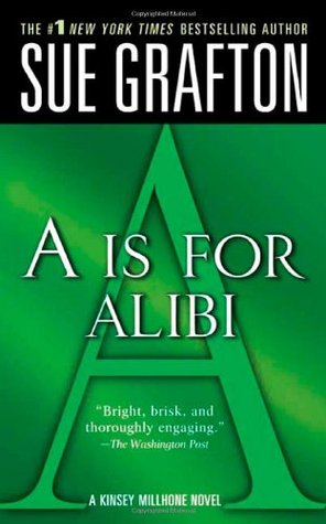 A is for Alibi by Sue Grafton. Green letter a